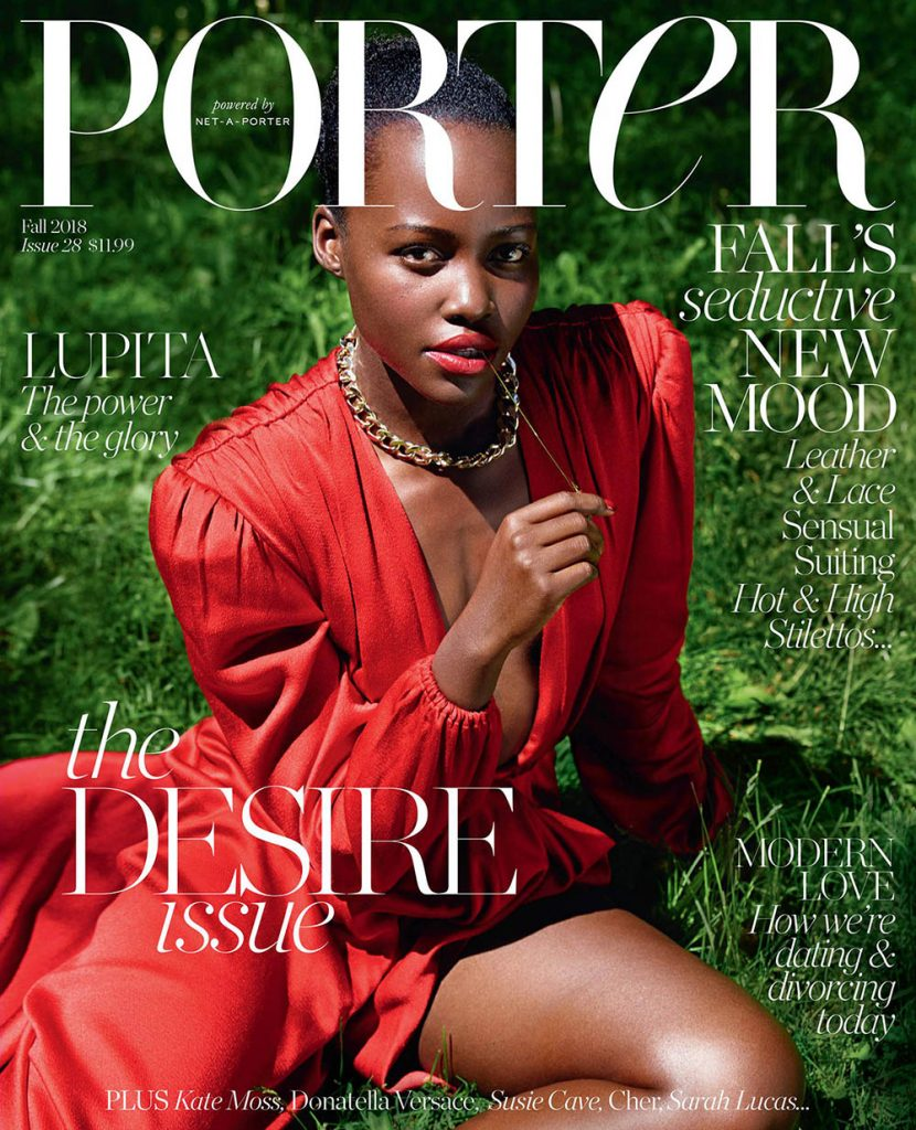 Lupita Nyong'o covers Porter Magazine Fall 2018 by Mario Sorrenti