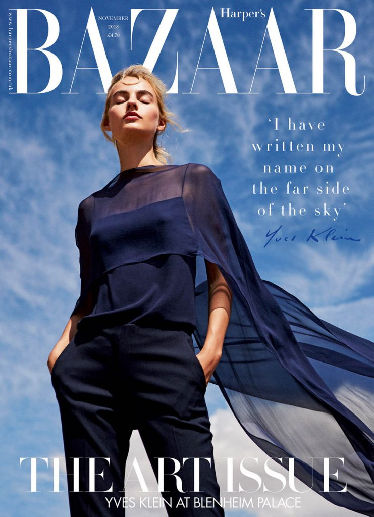 Maartje Verhoef covers Harper's Bazaar UK November 2018 by Josh Shinner