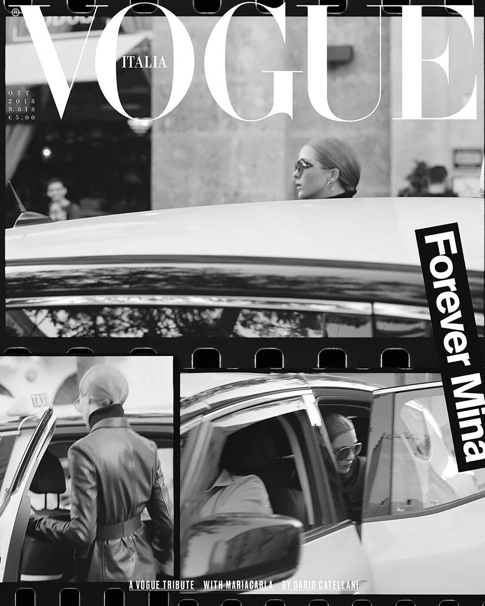 Mariacarla Boscono covers Vogue Italia October 2018 by Dario Catellani