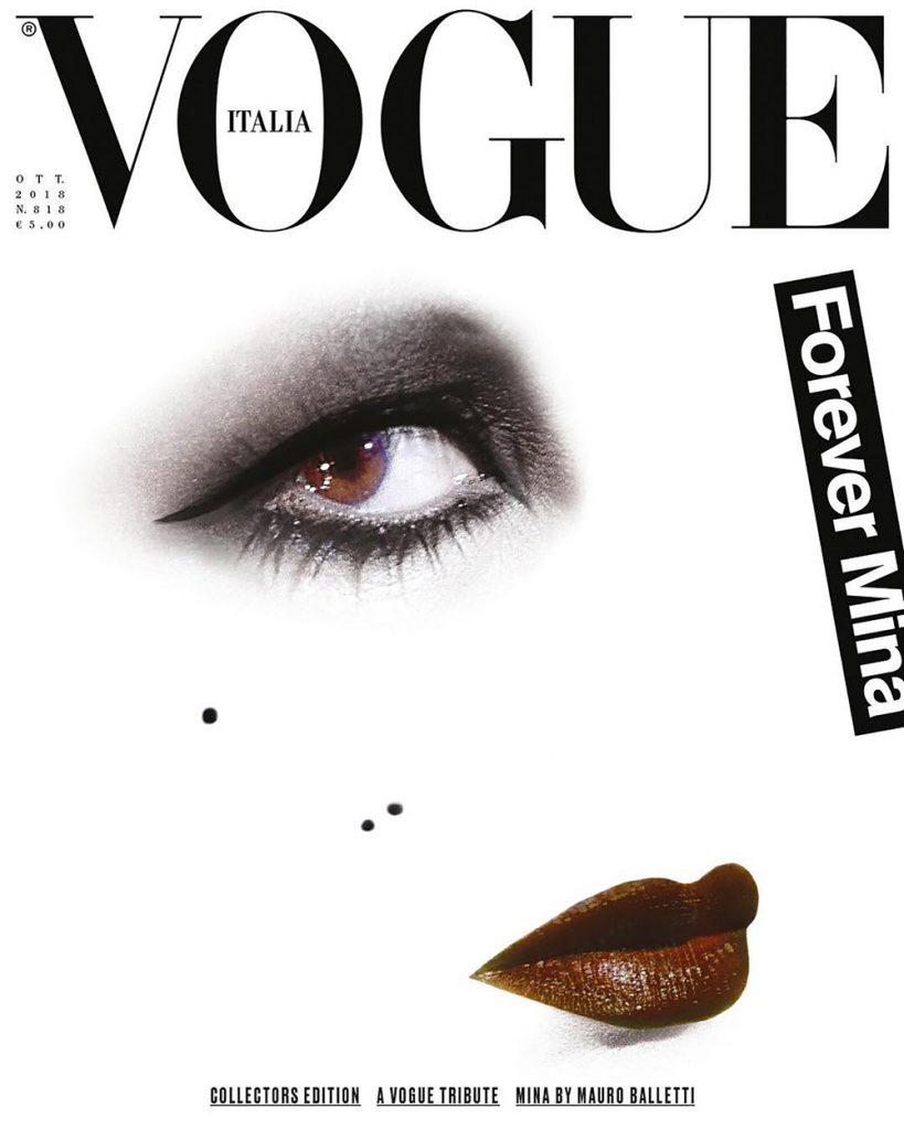Mina Mazzini covers Vogue Italia October 2018 by Mauro Balletti