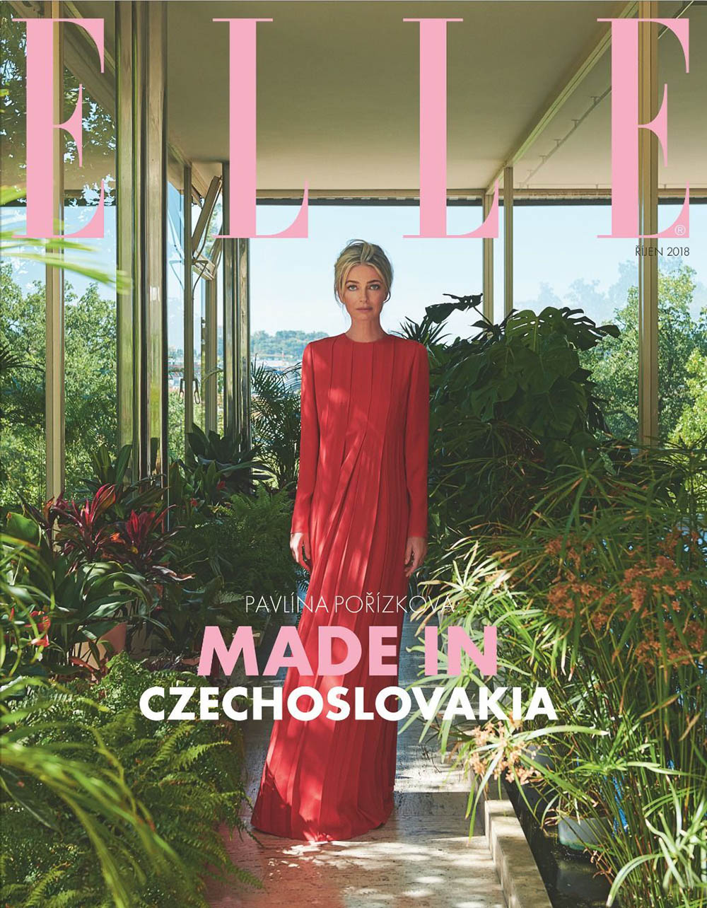 Paulina Porizkova covers Elle Czech October 2018 by Andreas Ortner