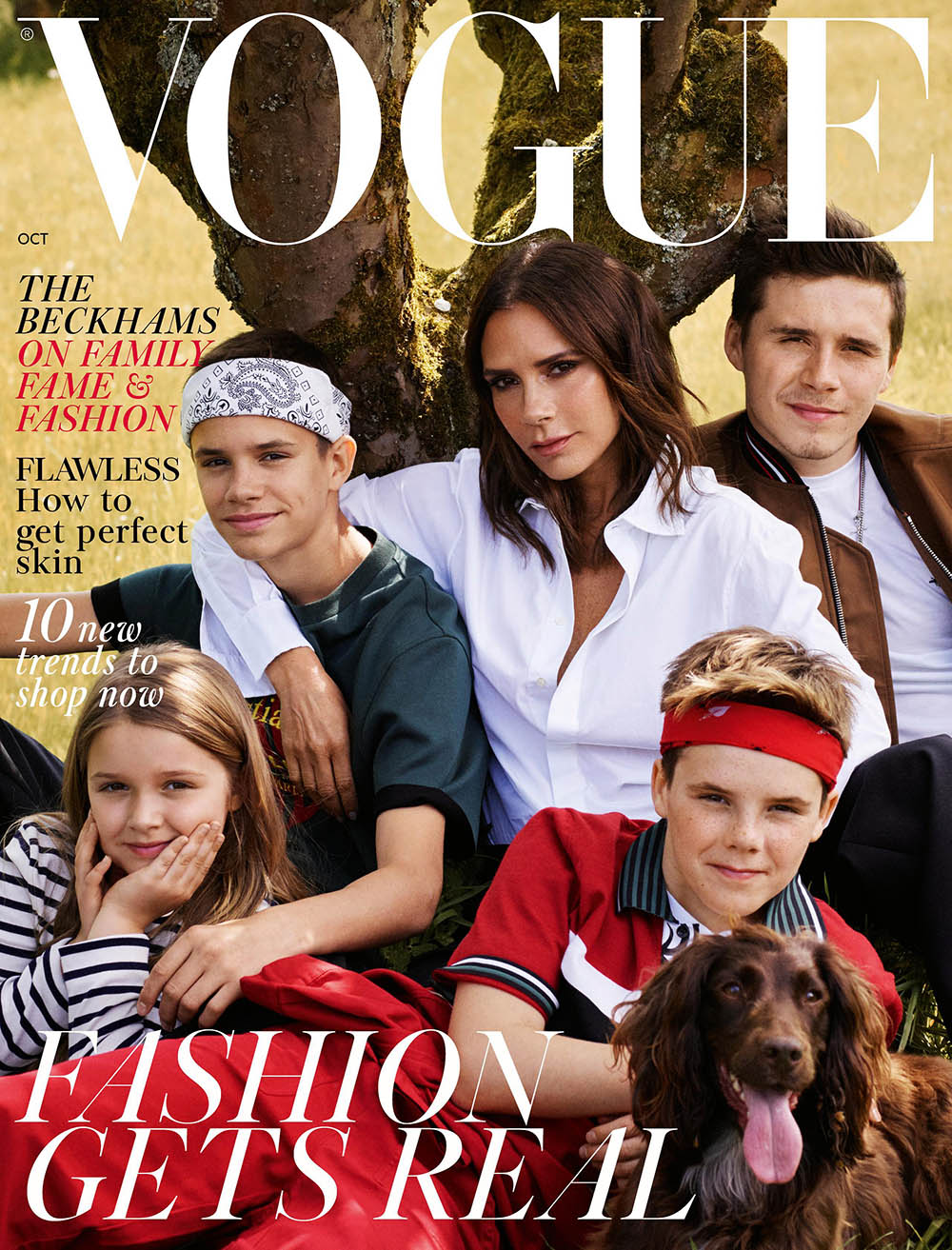 The Beckhams cover British Vogue October 2018 by Mikael Jansson