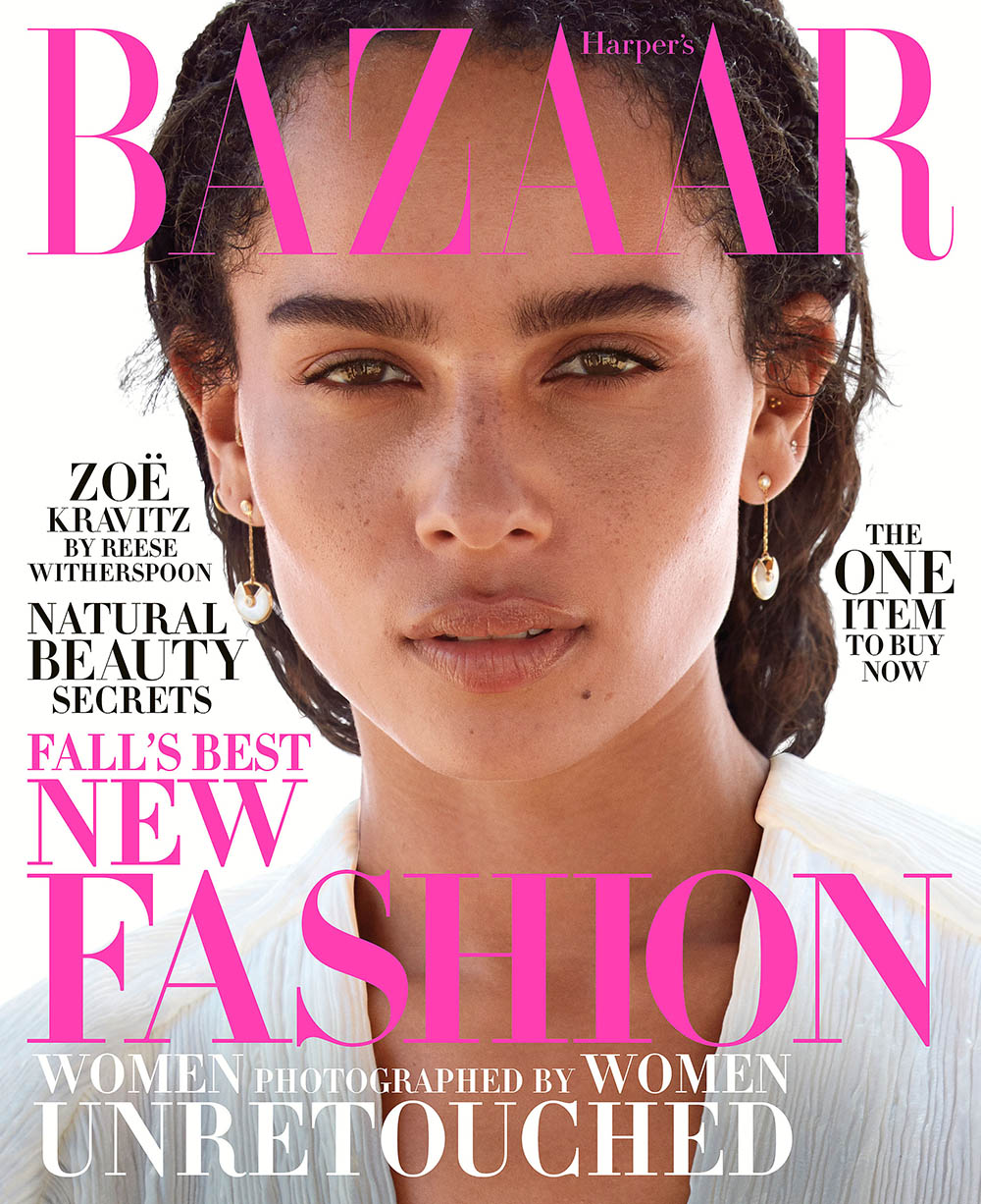 Zoë Kravitz covers Harper's Bazaar US October 2018 by Camilla Akrans