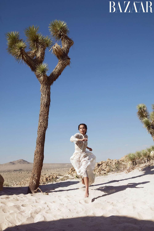 Zoë Kravitz covers Harper's Bazaar US October 2018 by Camilla Akrans