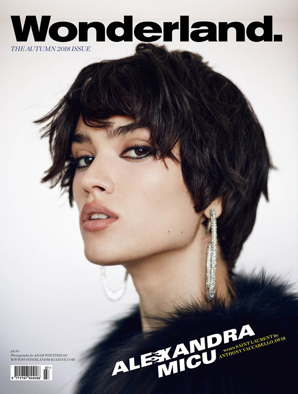 Alexandra Micu covers Wonderland Magazine Autumn 2018 by Adam Whitehead