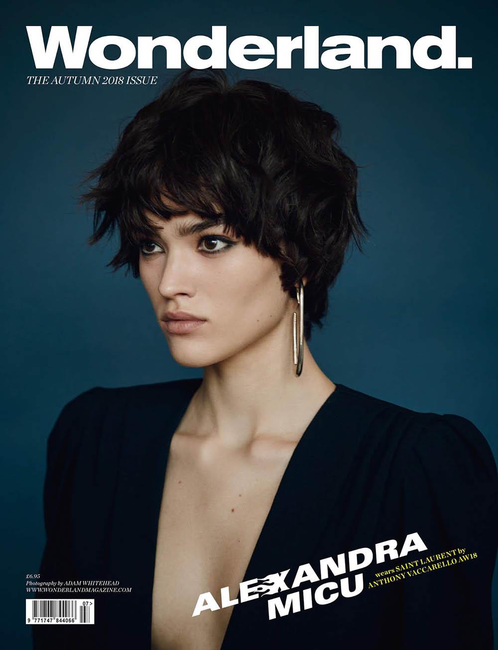 Alexandra Micu covers Wonderland Magazine Autumn 2018 by Adam Whitehead