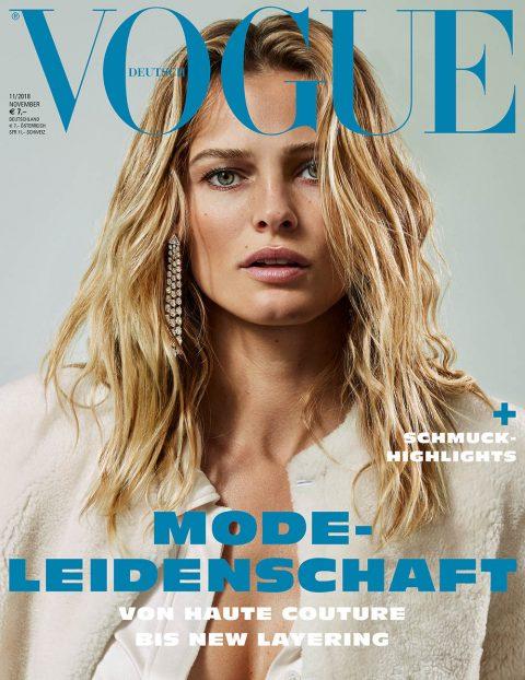 Edita Vilkeviciute covers Vogue Germany November 2018 by Alique