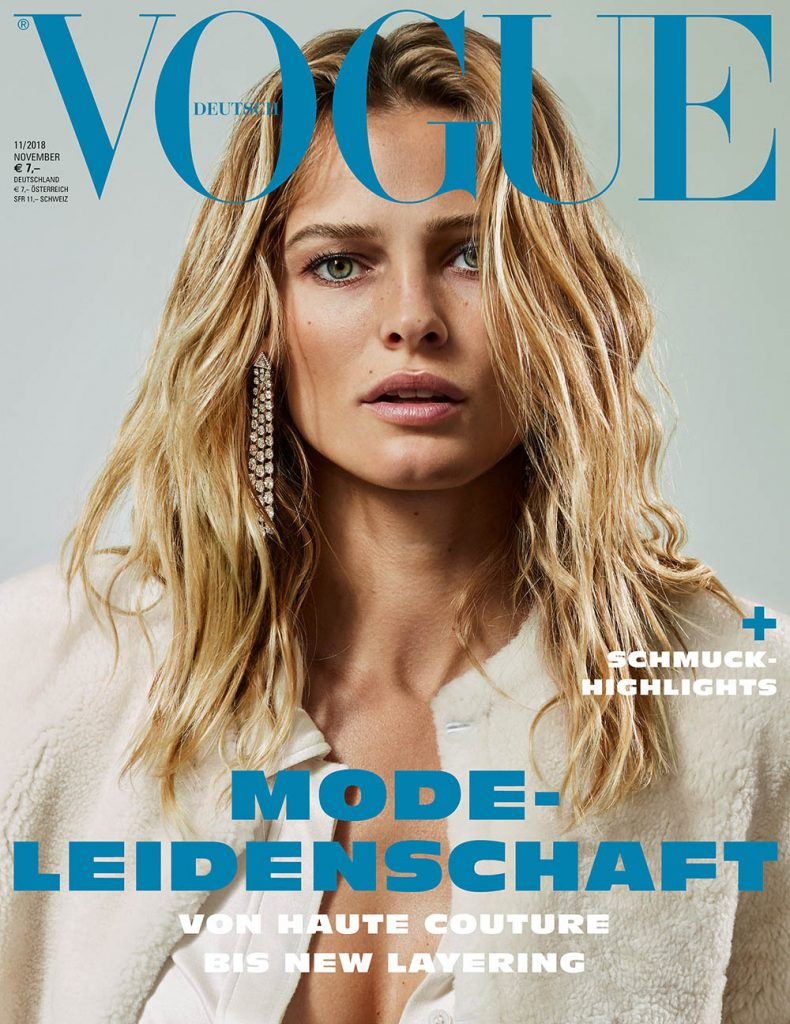 Edita Vilkeviciute covers Vogue Germany November 2018 by Alique