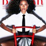 Jasmine Tookes covers Harper's Bazaar Kazakhstan November 2018 by Enrique Vega