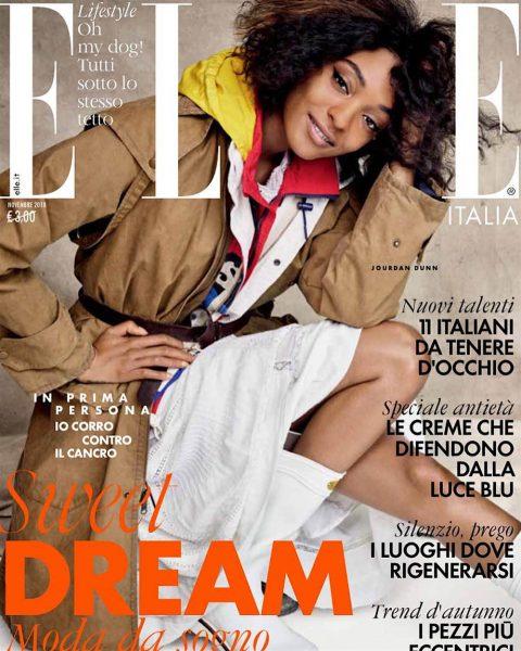 Jourdan Dunn covers Elle Italia November 2018 by Victor Demarchelier