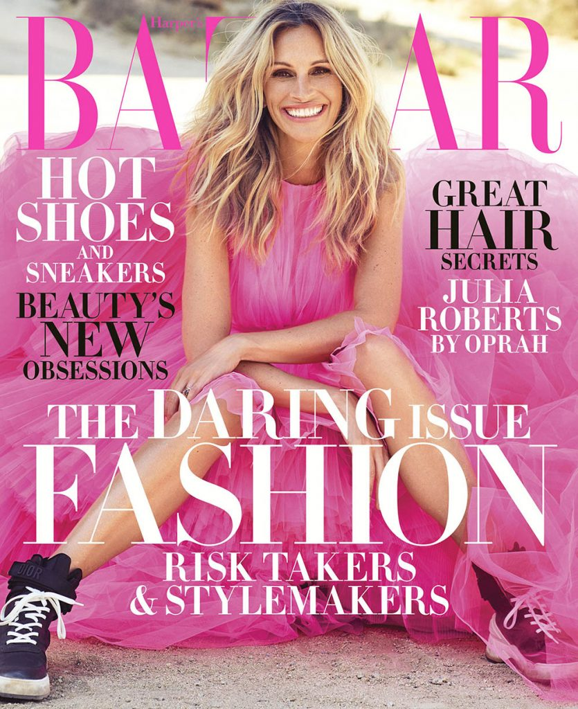 Julia Roberts covers Harper's Bazaar US November 2018 by Alexi Lubomirski