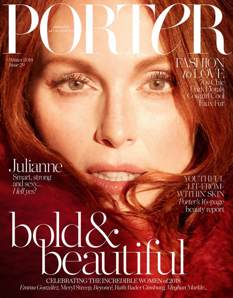 Julianne Moore covers Porter Magazine Winter 2018 by Camilla Akrans