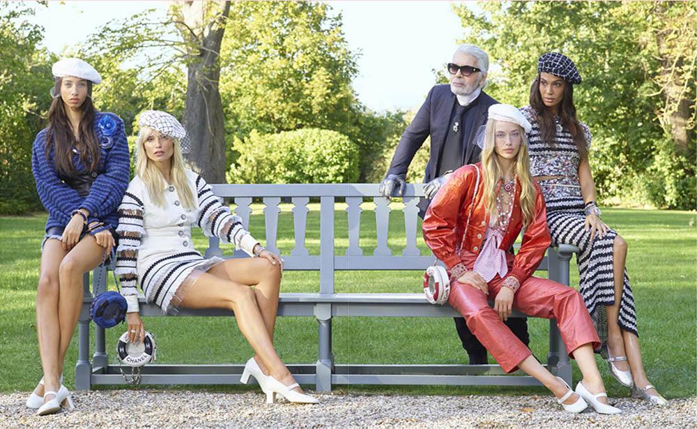 ''Karl's Crew'' by Karl Lagerfeld for Elle US December 2018