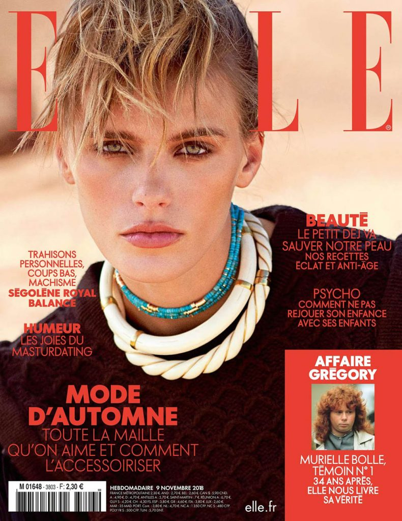Madison Headrick covers Elle France November 9th, 2018 by Sam Hendel