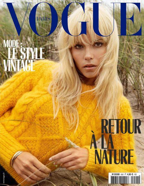 Natasha Poly covers Vogue Paris November 2018 by Inez and Vinoodh