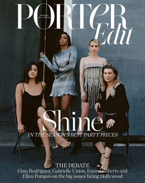 Ellen Pompeo, Emma Roberts, Gina Rodriguez and Gabrielle Union cover Porter Edit November 16th, 2018 by Matthew Sprout