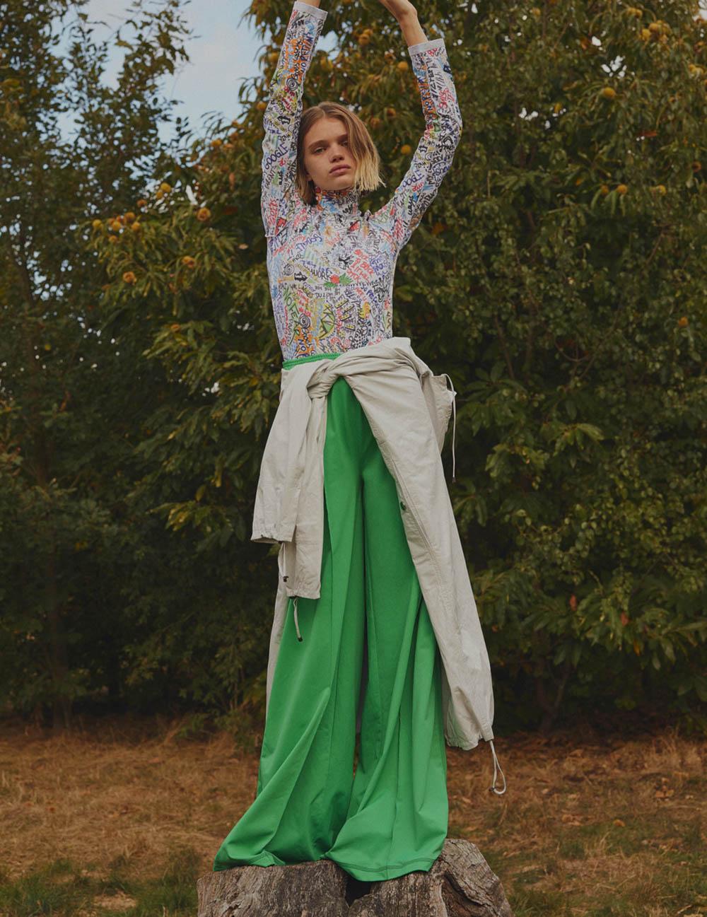 Stella Lucia covers Vogue Ukraine November 2018 by Leon Mark