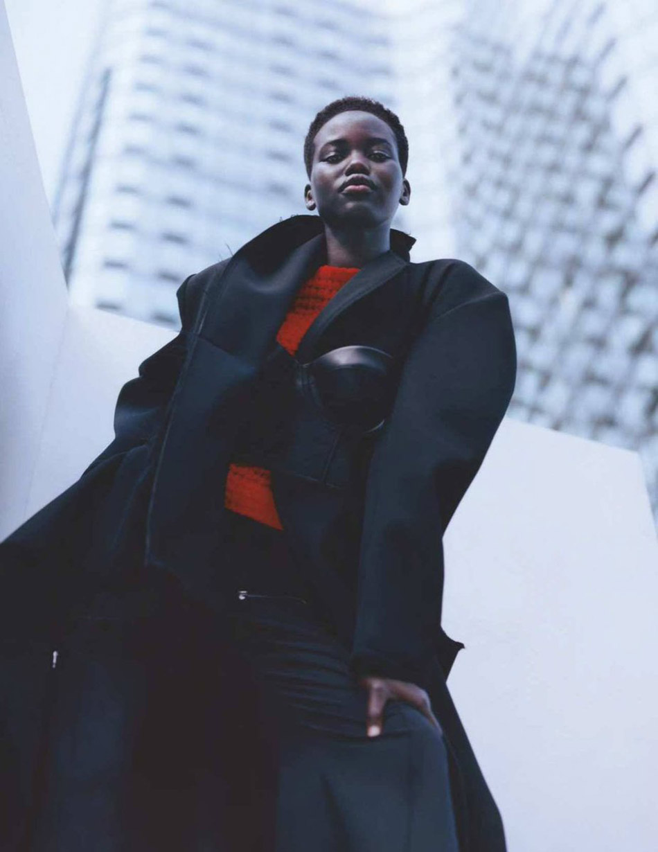 Adut Akech by Tyler Mitchell for British Vogue January 2019