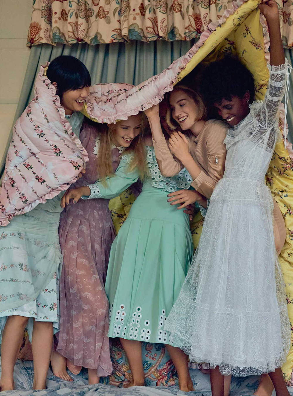 ''Belles Of The Ball'' by Agata Pospieszynska for Harper's Bazaar UK December 2018