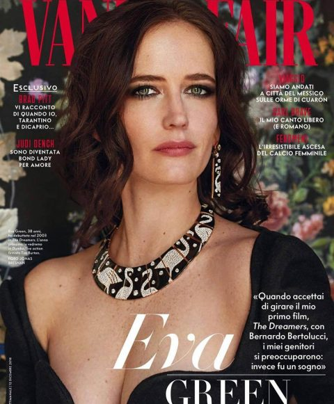Eva Green covers Vanity Fair Italia December 12th, 2018 by Jonas Bresnan