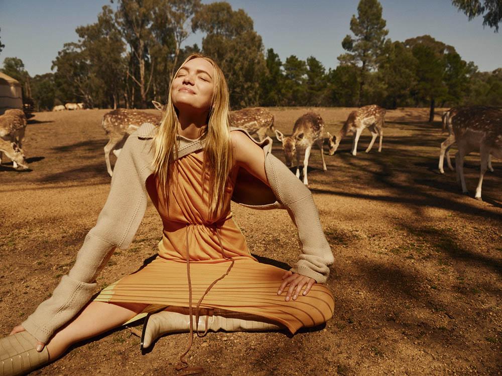 Gemma Ward covers Harper's Bazaar Australia December 2018 by Georges Antoni