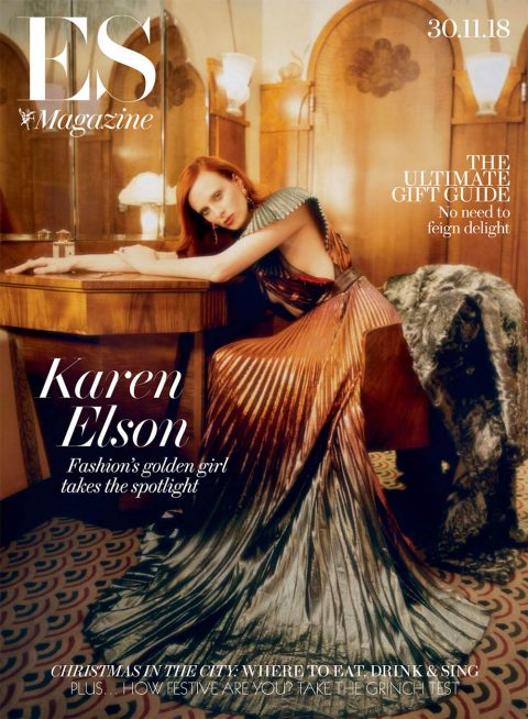 Karen Elson covers ES Magazine November 30th, 2018 by Tom Craig