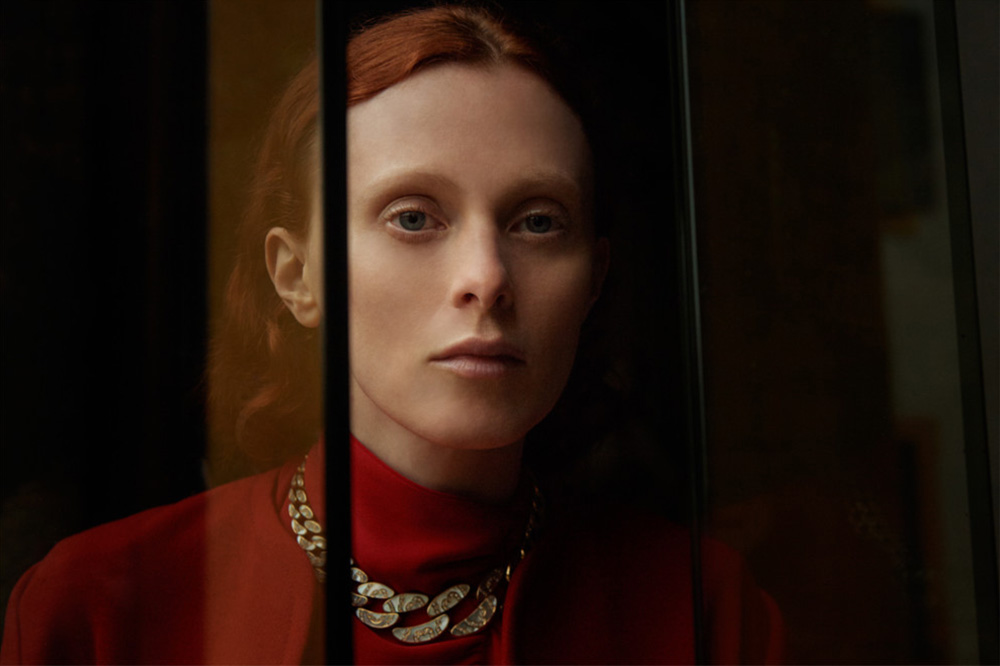 Karen Elson covers Vogue Ukraine December 2018 by Patrick Biennert