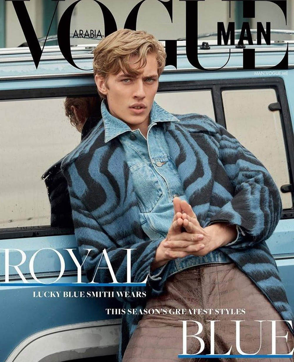Lucky Blue Smith, digital cover star of Vogue Man Arabia Fall Winter 2018