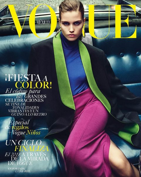 Luna Bijl covers Vogue Mexico & Latin America December 2018 by Chris Colls