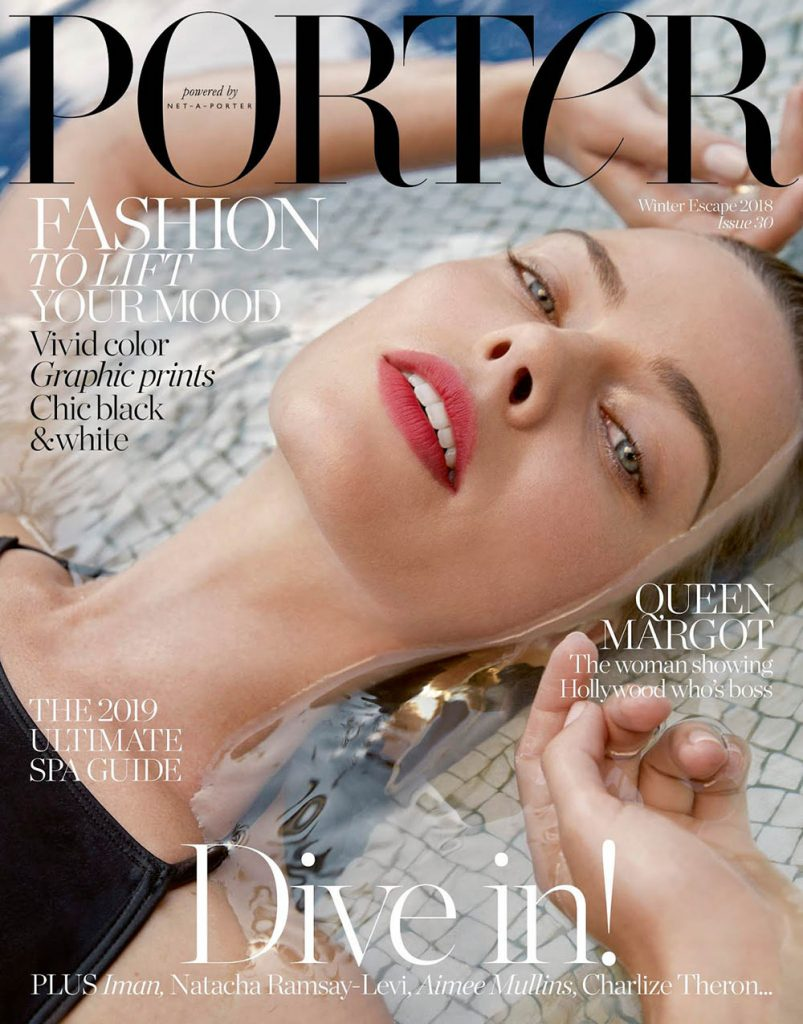 Margot Robbie covers Porter Magazine Winter Escape 2018 by Yelena Yemchuk