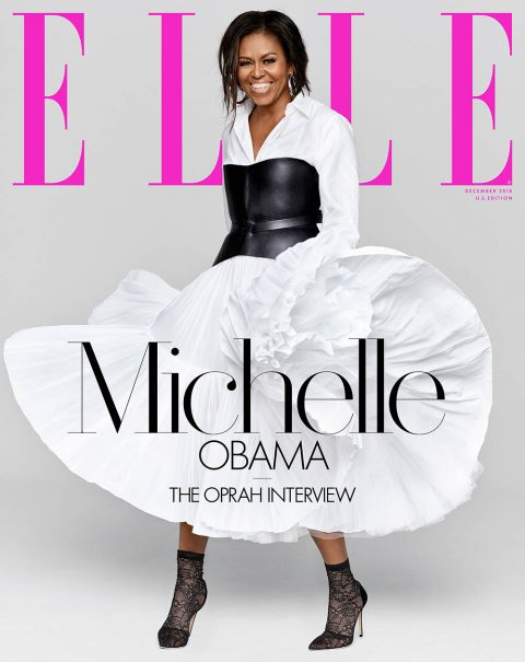 Michelle Obama covers Elle US December 2018 by Miller Mobley