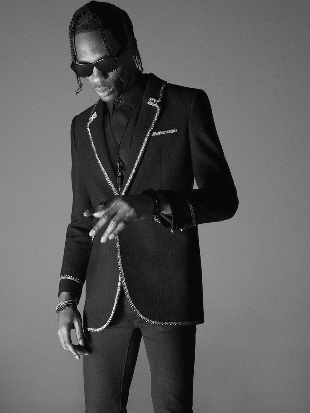 Saint Laurent Men's Spring Summer 2019 Campaign with Travis Scott