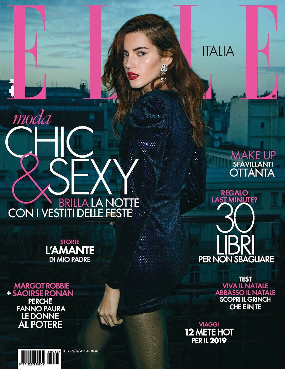 Valery Kaufman covers Elle Italia December 29th, 2018 by Nik Hartley
