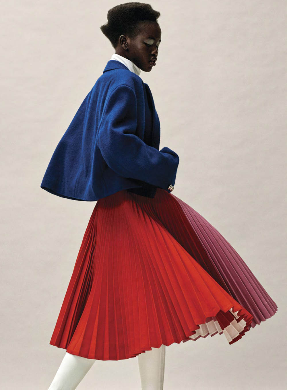 Adut Akech by Josh Olins for Vogue US January 2019