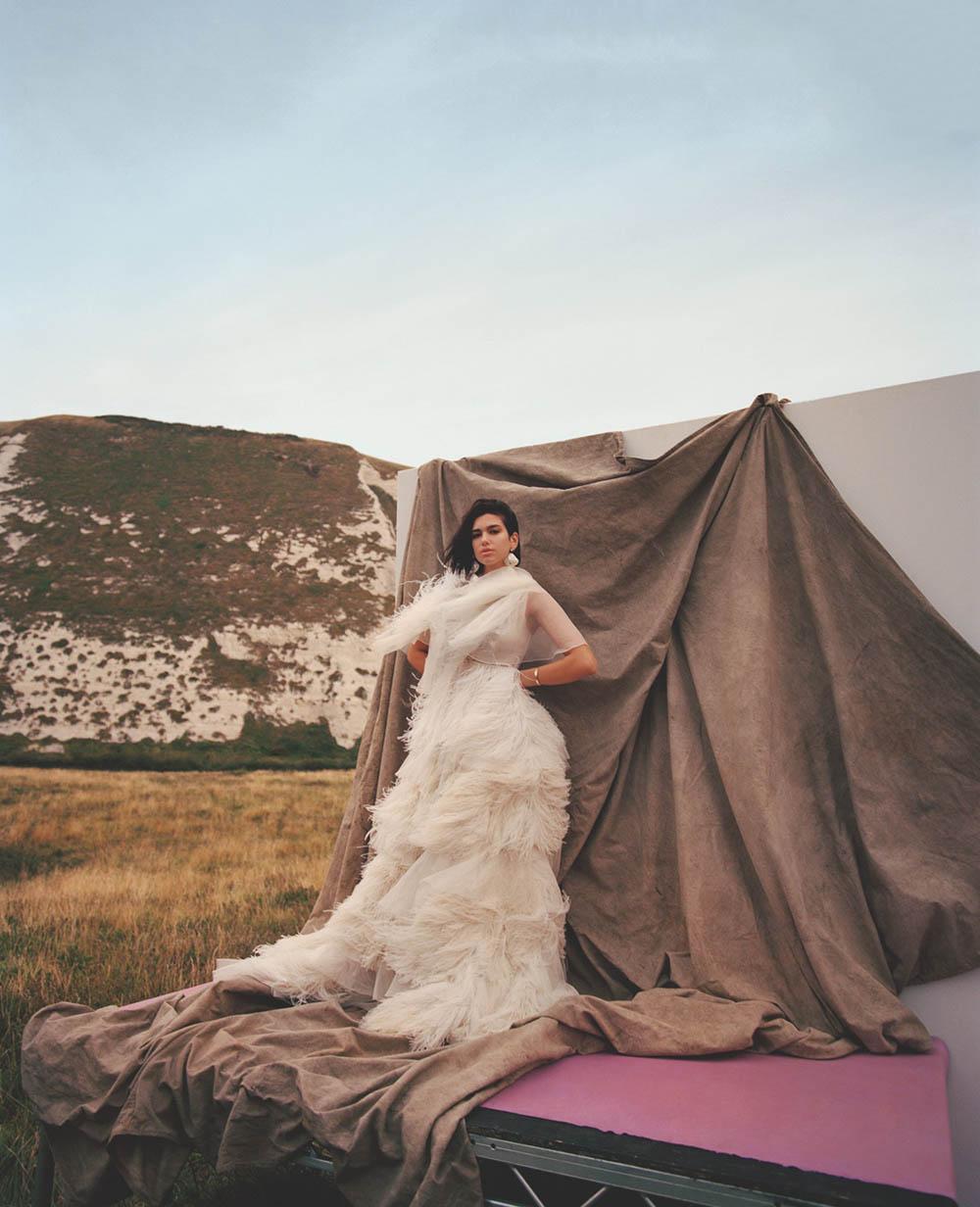 Dua Lipa covers British Vogue January 2019 by Nadine Ijewere