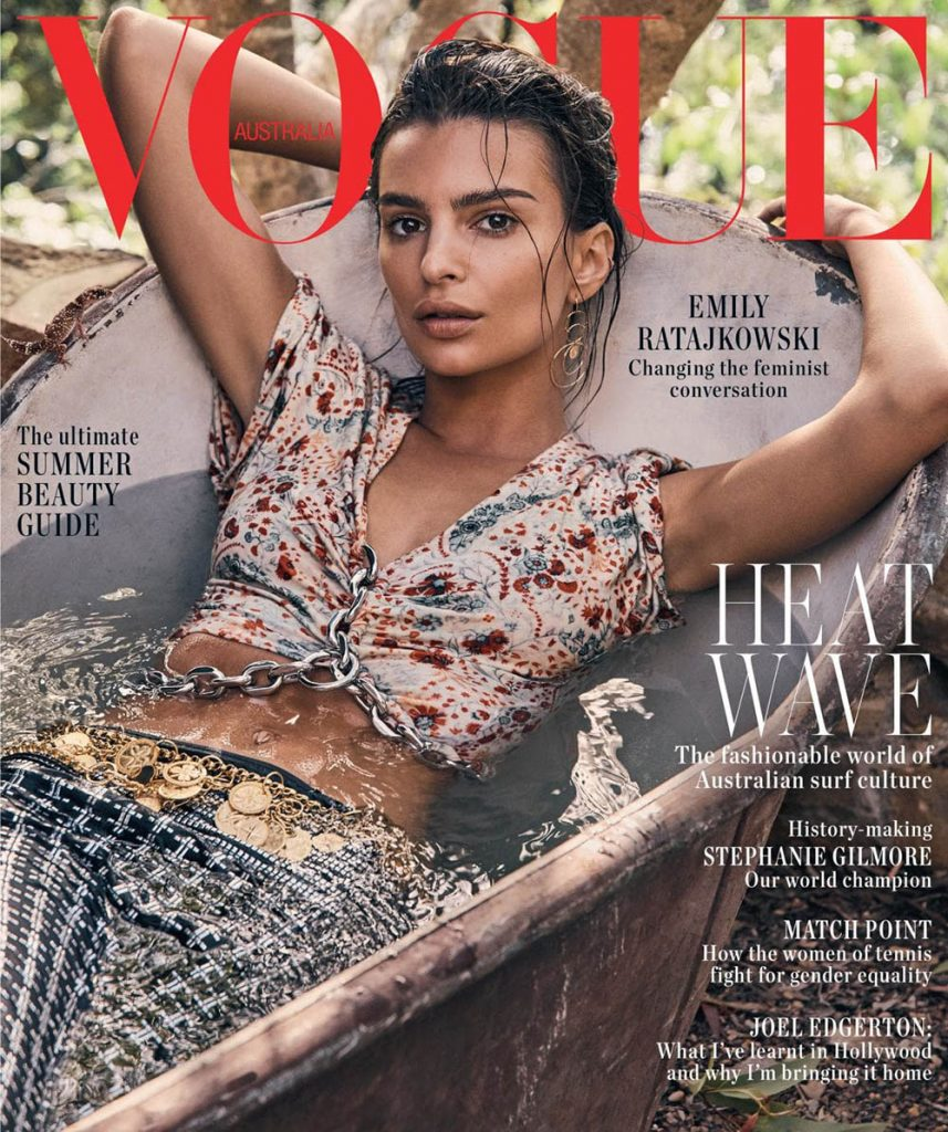 Emily Ratajkowski covers Vogue Australia January 2019 by Nicole Bentley