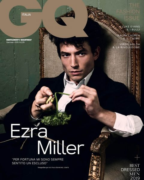 Ezra Miller covers GQ Italia January 2019 by Michel Comte