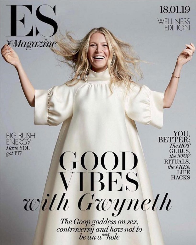 Gwyneth Paltrow covers ES Magazine January 18th, 2019 by Coliena Rentmeester