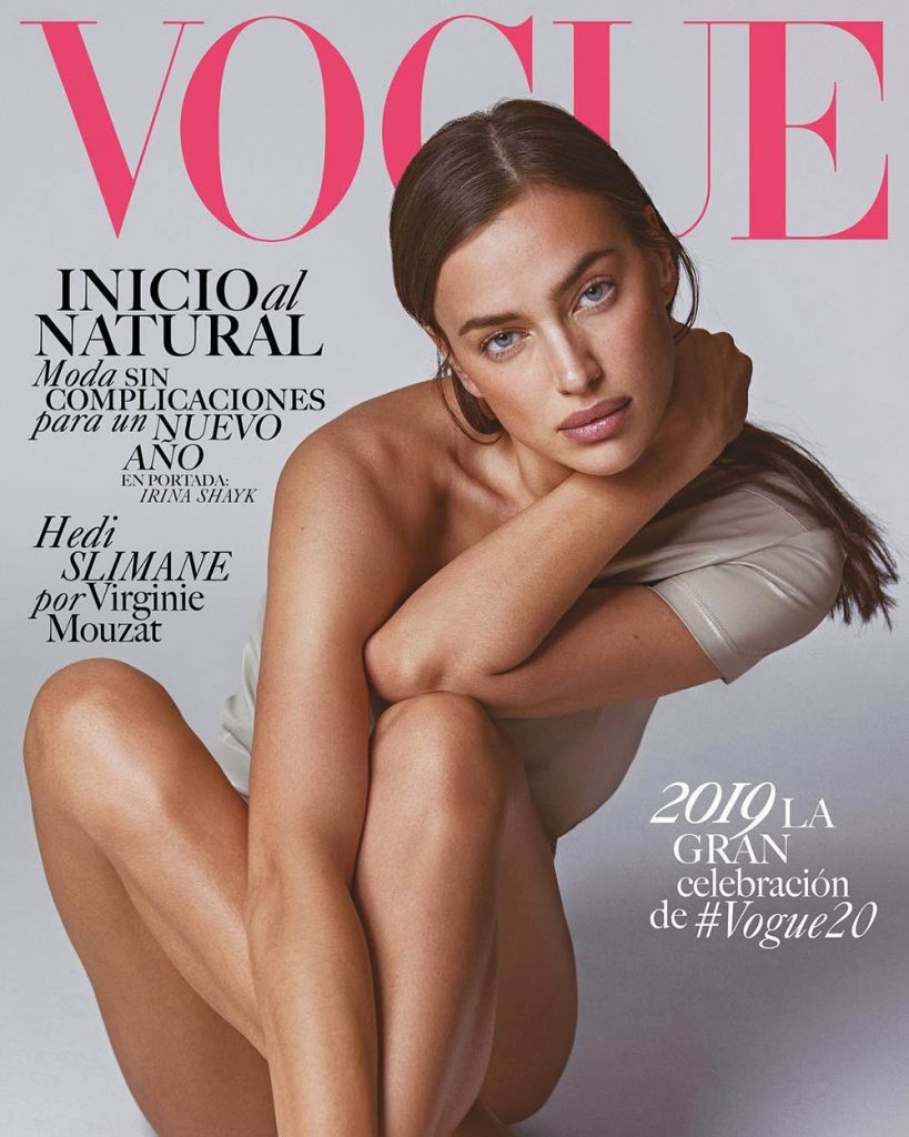 Irina Shayk covers Vogue Latin America January 2019 by An Le
