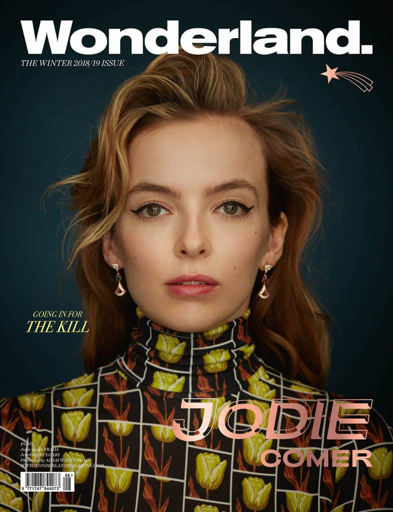 Jodie Comer covers Wonderland Magazine Winter 2018 by Adam Whitehead