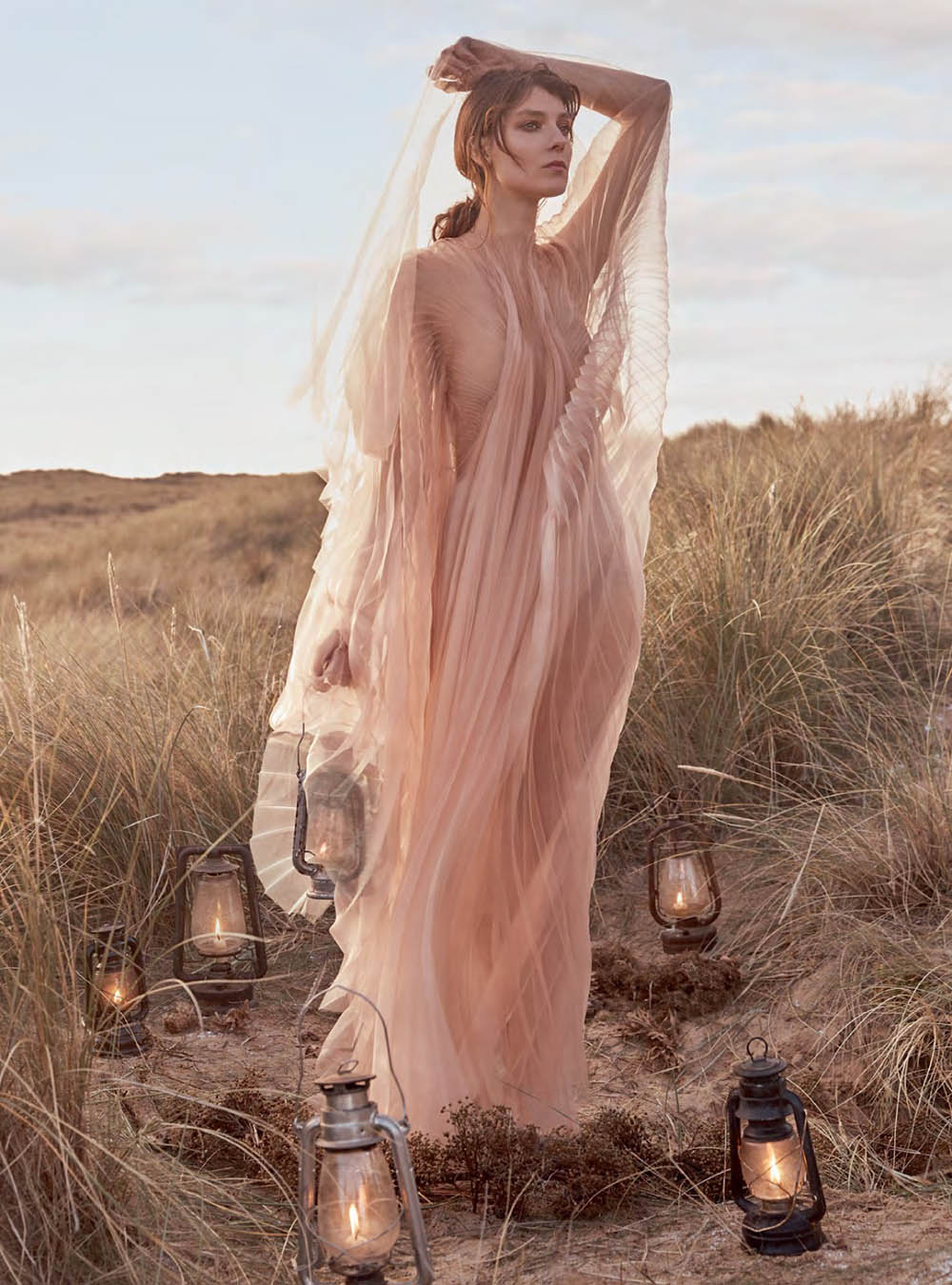Kati Nescher by Richard Phibbs for Harper's Bazaar UK January 2019