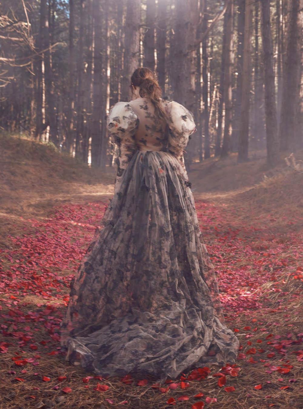 Kati Nescher by Richard Phibbs for Harper's Bazaar UK January 2019