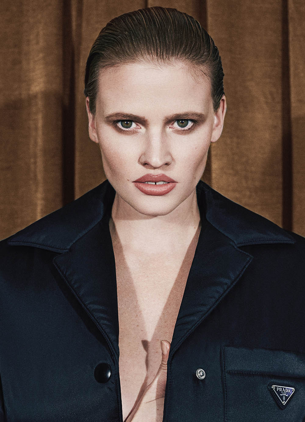 Lara Stone covers Interview Germany Fall Winter 2018 by Dan Beleiu