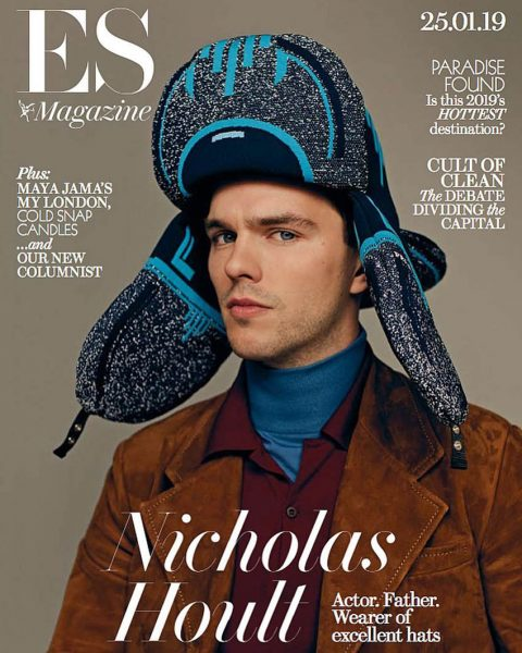Nicholas Hoult covers ES Magazine January 25th, 2019 by Luc Coiffait