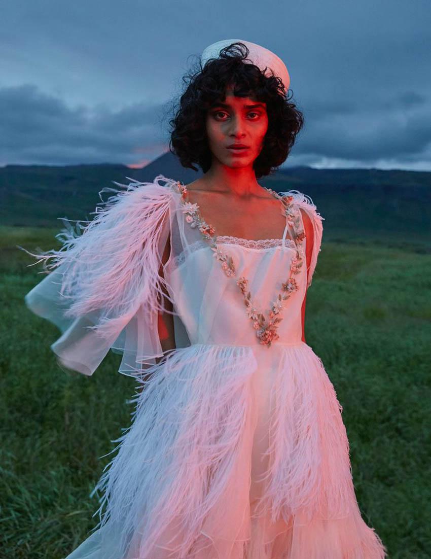 Radhika Nair by Ina Lekiewicz for Vogue Ukraine January 2019