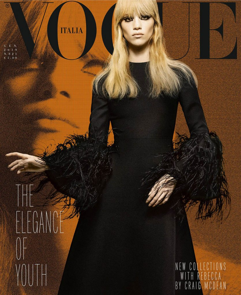 Rebecca Leigh Longendyke covers Vogue Italia January 2019 by Craig McDean