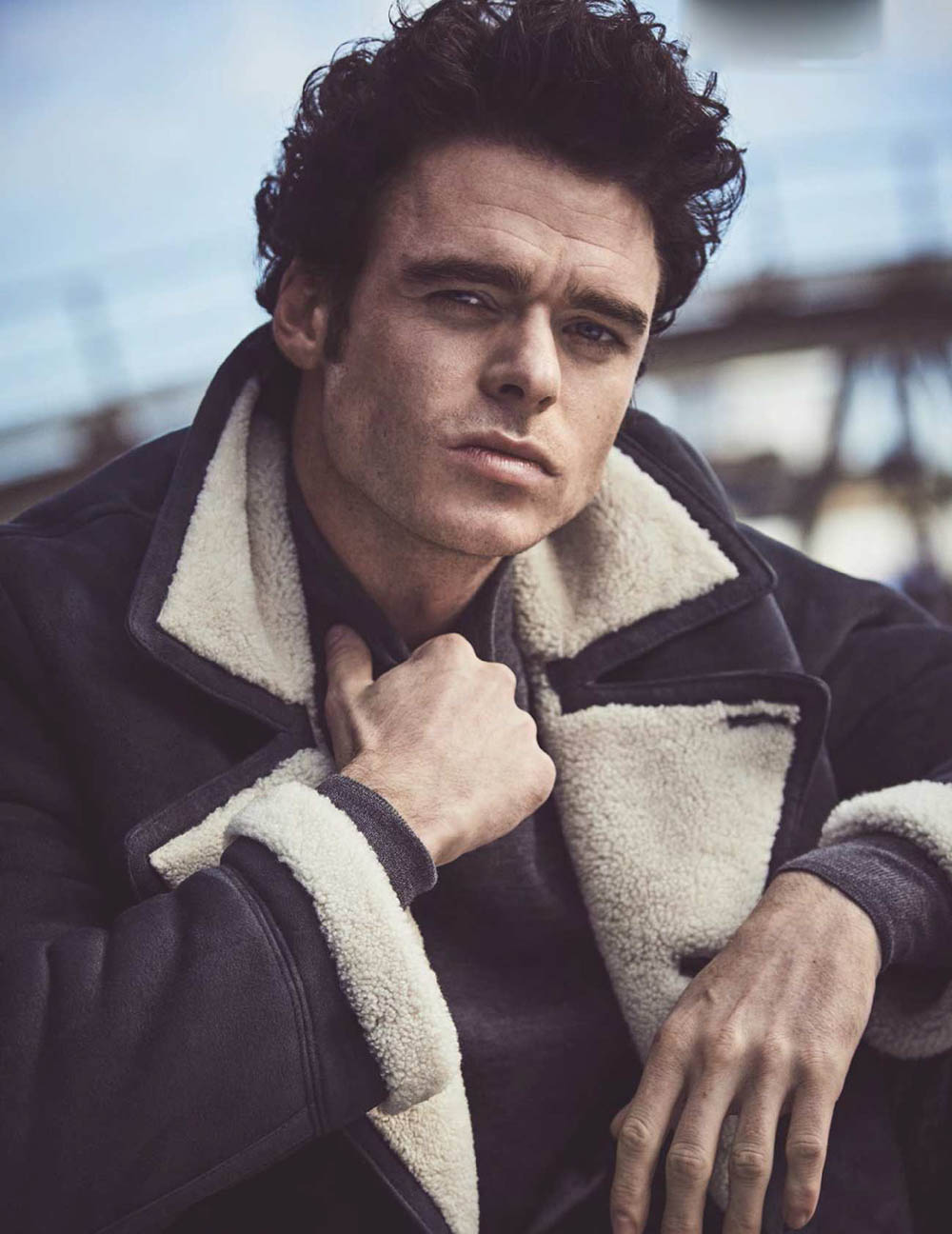 Richard Madden covers British GQ January February 2019 by Matthew Brookes