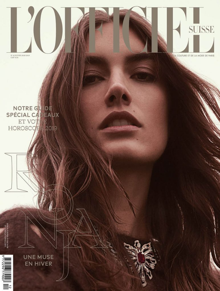 Ronja Furrer covers L'Officiel Switzerland Winter 2018 by Andreas Ortner