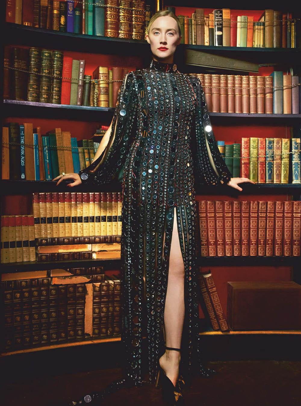 Saoirse Ronan covers Harper's Bazaar UK February 2019 by Erik Madigan Heck