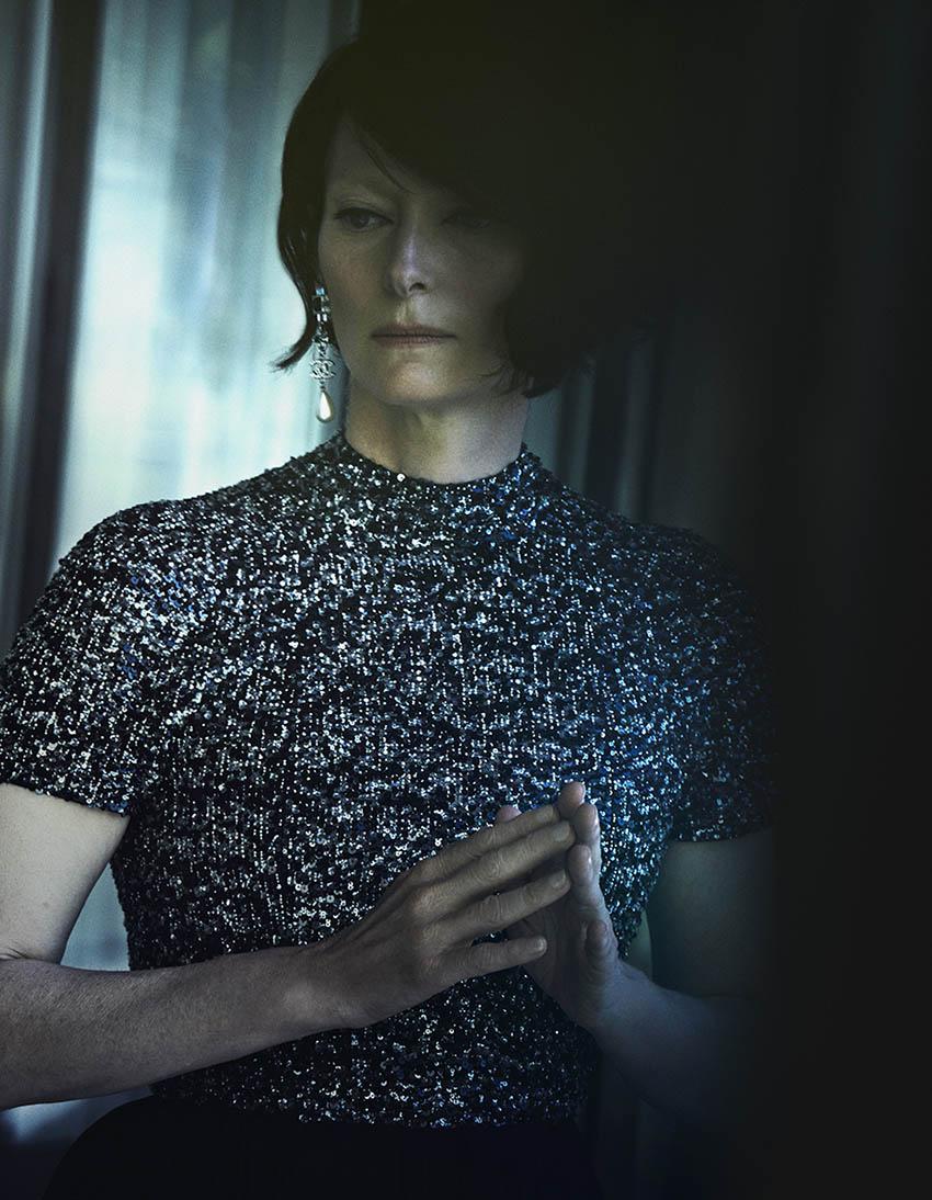 Tilda Swinton covers Vogue Japan January 2019 by Peter Lindbergh